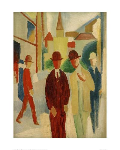 Brights street with people, 1914-Auguste Macke-Giclee Print