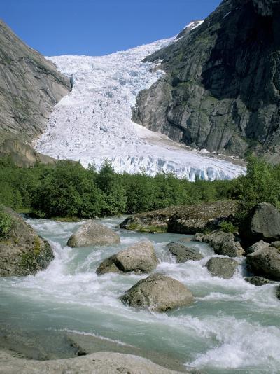 Briksdal Glacier, Sogn and Fjordane, Norway, Scandinavia-G Richardson-Photographic Print