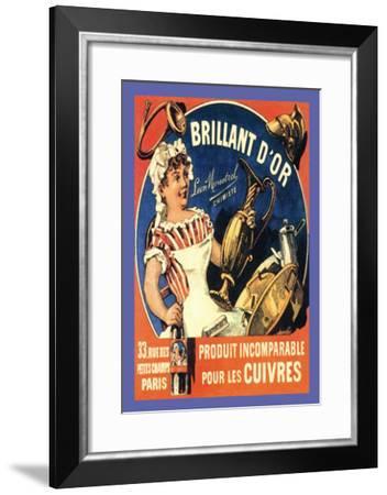 Brillant d'Or, c.1885-Th?ophile Alexandre Steinlen-Framed Art Print