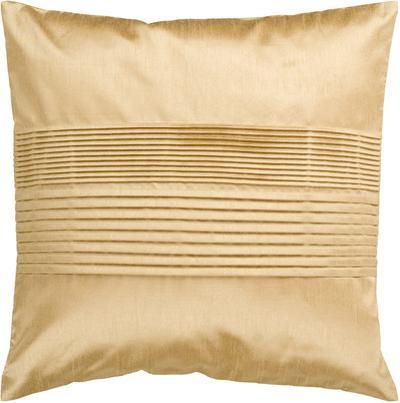Brilliant Pleated Down Fill Pillow - Mustard