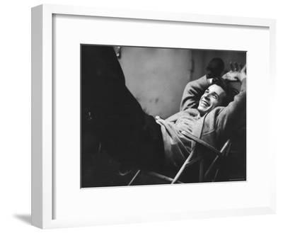 Brilliant Young Canadian Pianist Glenn Gould Laughing at a Columbia Recording Studio-Gordon Parks-Framed Premium Photographic Print