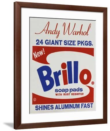 Brillo Box (detail), 1964-Andy Warhol-Framed Art Print