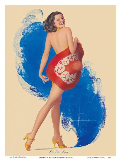 Brim Full of Beauty-Rolf Armstrong-Art Print