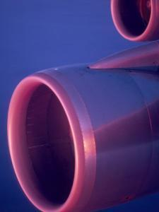 Close-Up of Jet Engine, in Mid Air over Atlantic Ocean by Brimberg & Coulson