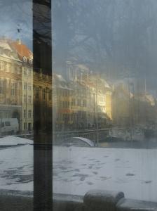 Nyhavn, Boats Moored on Waterfront, Frozen Canal, Copenhagen, Denmark by Brimberg & Coulson