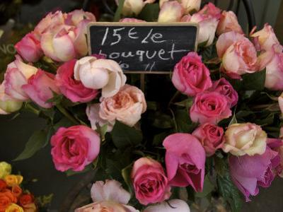 Roses Being Sold at a Market, Paris, France by Brimberg & Coulson