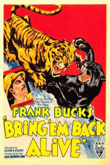 Bring 'em Back Alive, Frank Buck, 1932--Art Print