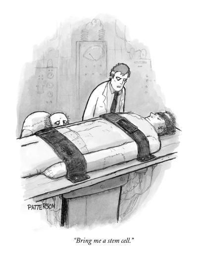 """Bring me a stem cell."" - New Yorker Cartoon-Jason Patterson-Premium Giclee Print"