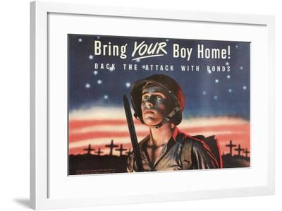 Bring Your Boy Home--Framed Art Print
