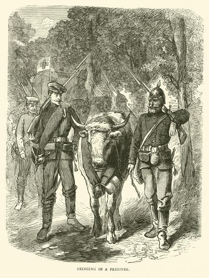 Bringing in a Prisoner, September 1870--Giclee Print