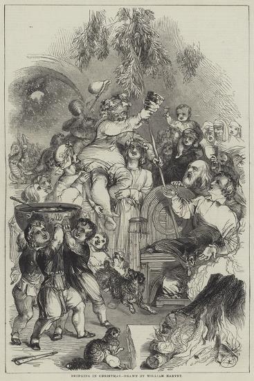 Bringing in Christmas-William Harvey-Giclee Print