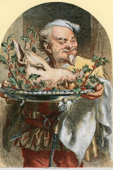 Bringing in the Boar's Head-Sir John Gilbert-Giclee Print