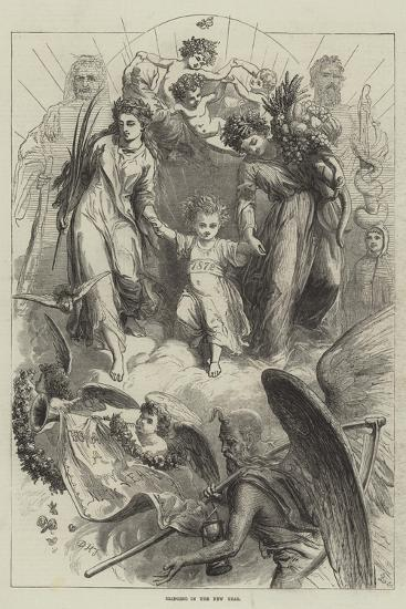 Bringing in the New Year-David Henry Friston-Giclee Print