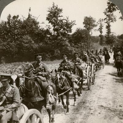 Bringing Up Reserve Ammunition, World War I, 1914-1918--Photographic Print
