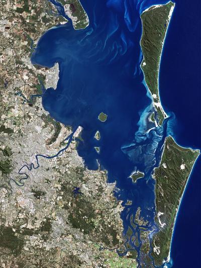 Brisbane, Australia, Satellite Image-PLANETOBSERVER-Photographic Print