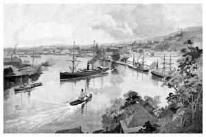 Brisbane from Bowen Terrace, 1886