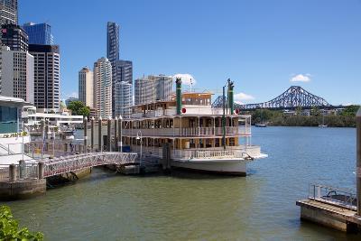 Brisbane River, Story Bridge and City Reach Boardwalk, Brisbane, Queensland, Australia, Oceania-Frank Fell-Photographic Print
