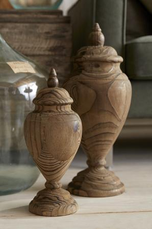 Brisco Carved Finial Pair