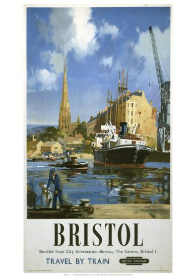 Bristol Boat and Crane--Giclee Print