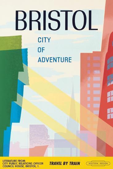 Bristol, City of Adventure, 1961--Giclee Print