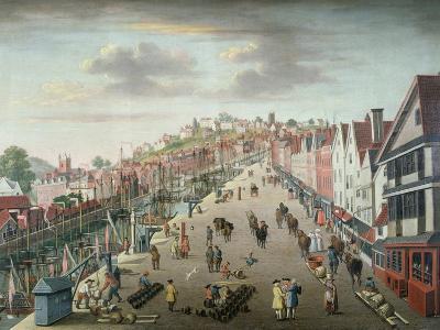 Bristol Docks and Quay, C.1760--Giclee Print