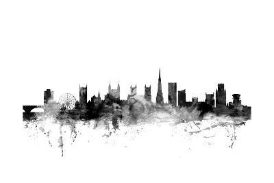 Bristol England Skyline-Michael Tompsett-Art Print