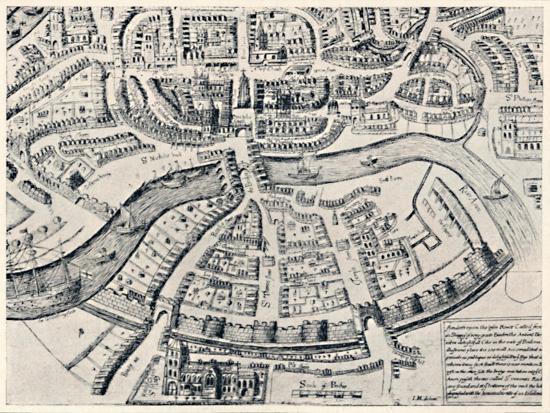 'Bristol in 1670', 1670, (1903)-Unknown-Giclee Print