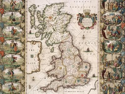 Britain as It Was Devided in the Tyme of the Englishe Saxons, 1616-John Speed-Giclee Print