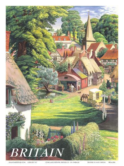 Britain Countryside, c.1950s-S^R^ Badmin-Art Print