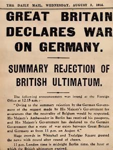 Britain Declares War on Germany, 1914 (1935)