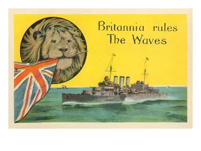 Britannia Rules the Waves, Battleship--Art Print