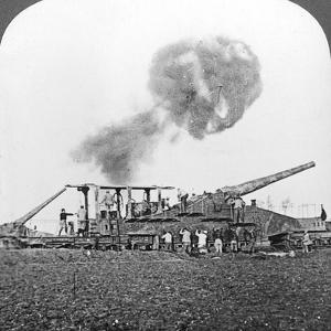 British 16 Inch Railway Guns in Action, World War I, C1914-C1918