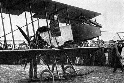 British Aeroplane with Quick-Fire Gun, First World War, 1914--Giclee Print