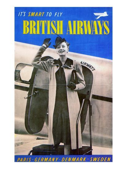 British Airways, 1938--Giclee Print