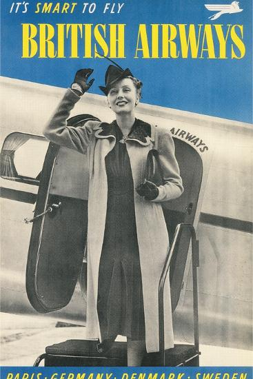 British Airways Travel Poster--Art Print