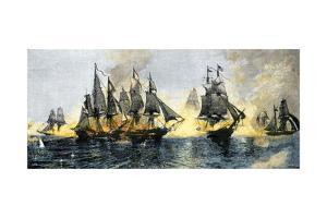 British and American Ships Engaged in the Battle of Lake Erie, 1813