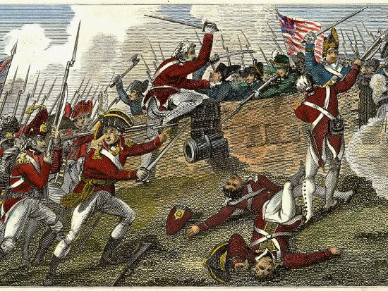 British and American Troops at the Battle of Bunker Hill During the American Revolutionary War--Photographic Print