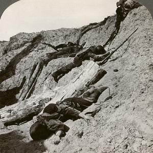 British and German Dead Near the Hohenzollern Redoubt, Lens, France, World War I, 1914-1918
