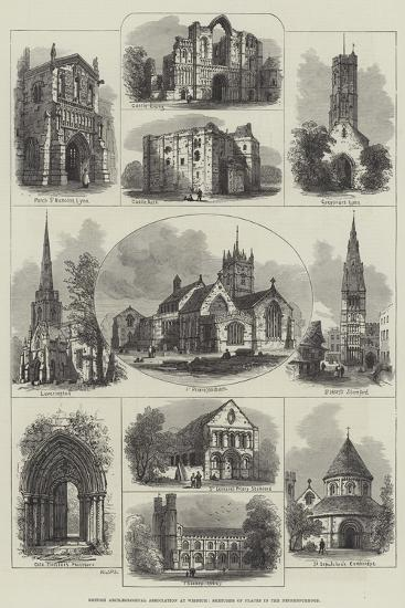 British Archaeological Association at Wisbech, Sketches of Places in the Neighbourhood--Giclee Print