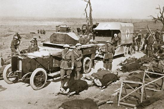 British armoured car, near Guillemont, France, Somme campaign, World War I, 1916-Unknown-Photographic Print
