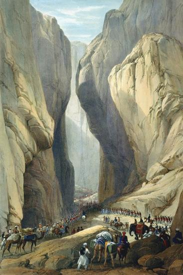 British Army Entering the Bolan Pass from Dadur, First Anglo-Afghan War, 1838-1842-James Atkinson-Giclee Print