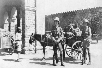 British Army Transport, Agra, India, 1916-1917--Giclee Print