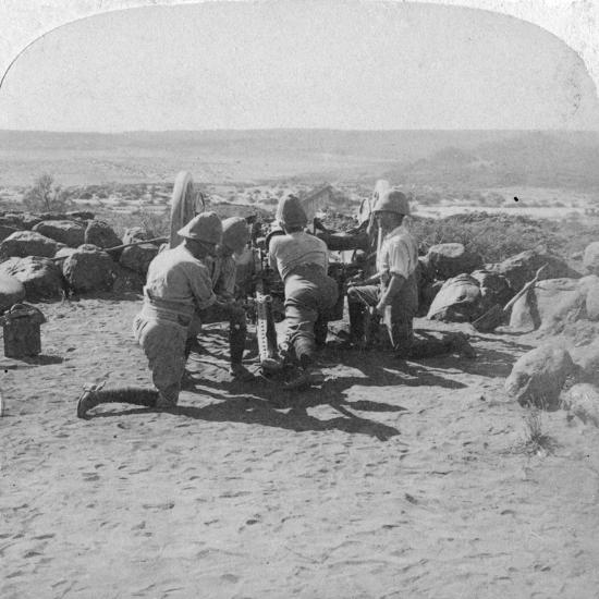 British Artillery in Action, South Africa, 2nd Boer War, 6 February 1900-Underwood & Underwood-Giclee Print