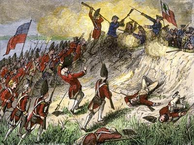 Large American Revolutionary War Painting Battle of Princeton Canvas Art Print