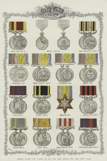 British Awards for Valour on Sea and Land During the Last Fifty Years--Giclee Print