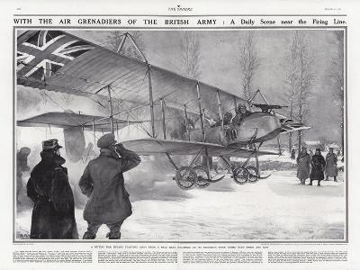 British Biplane at an Airfield Near Hollebeke, Belgium, World War I-Addison Thomas Millar-Giclee Print