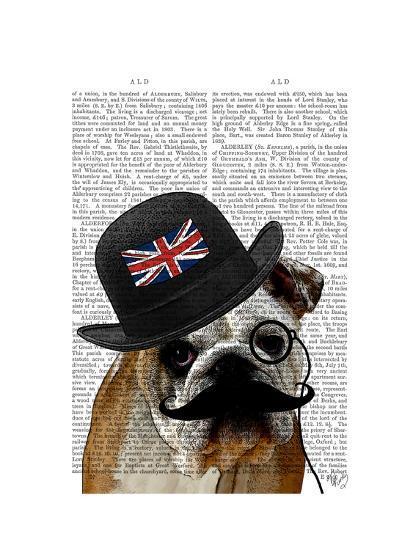 British Bulldog and Bowler Hat-Fab Funky-Art Print