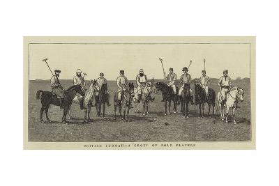 British Burmah, a Group of Polo Players--Giclee Print