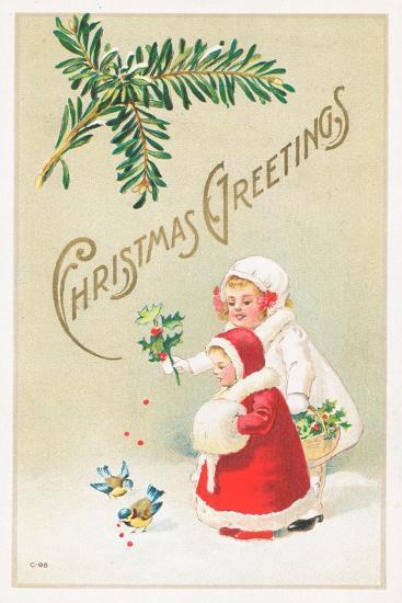 British Christmas Card--Giclee Print