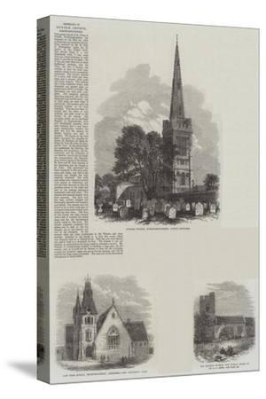 British Churches--Stretched Canvas Print